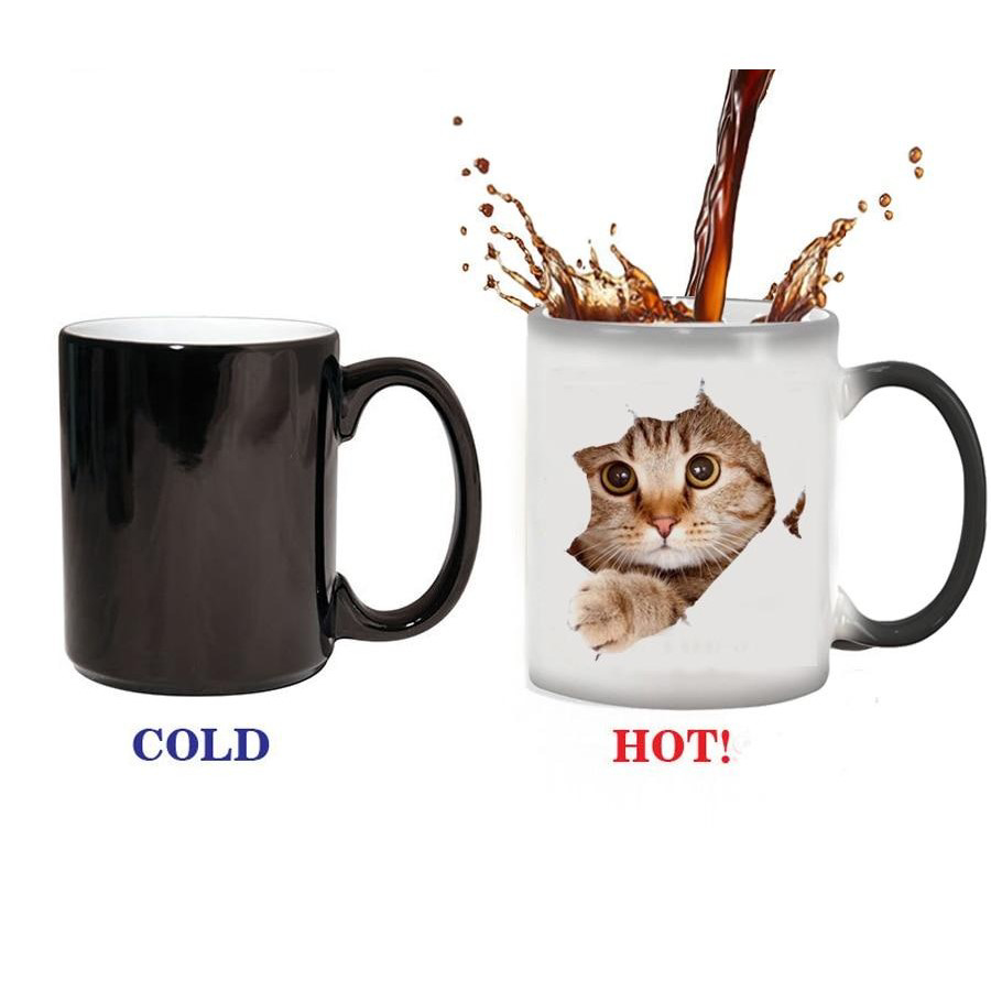 Heat Reveal Photo Mug - Showing Change