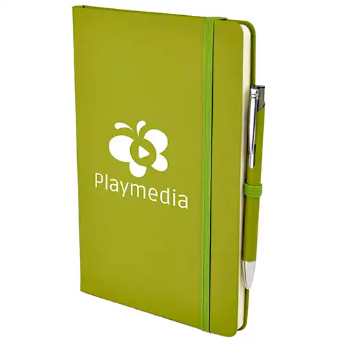 A5 Soft Touch Notebook & Pen - Lime