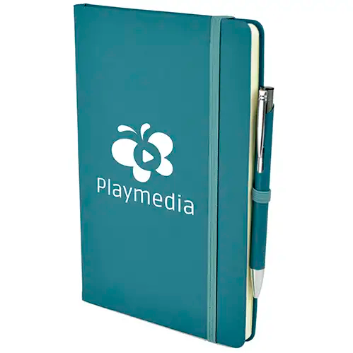 A5 Soft Touch Notebook & Pen - Teal