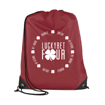 Promotional Polyester Drawstring Bag - Burgundy