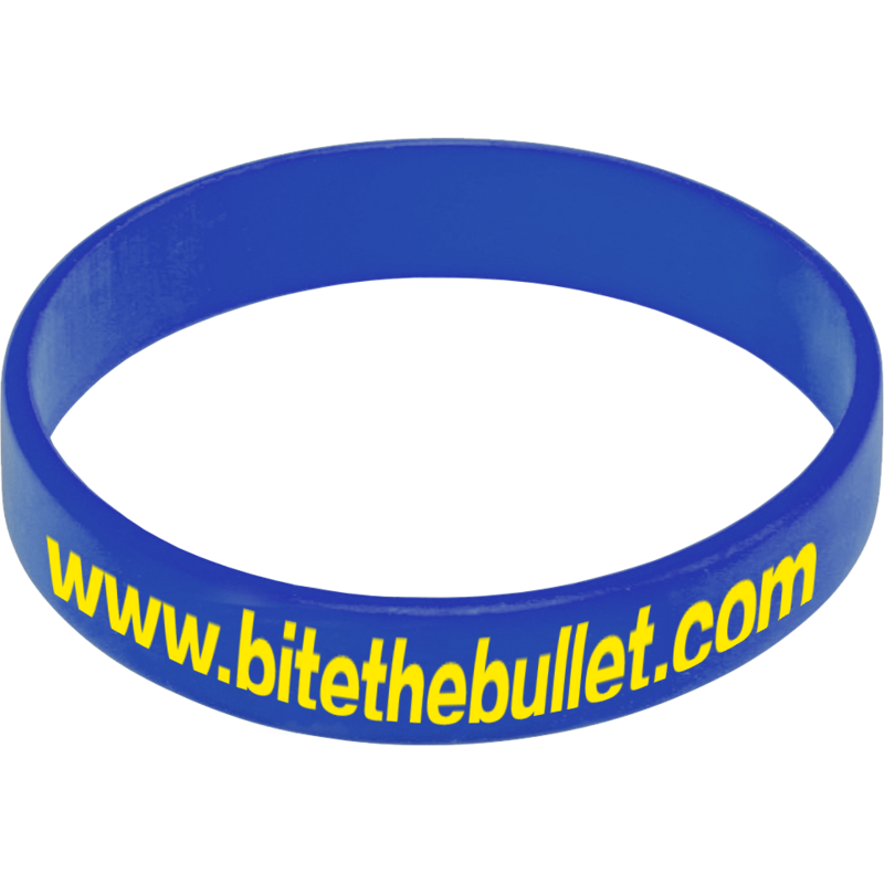 Express Silicone Wristband - Medium Blue