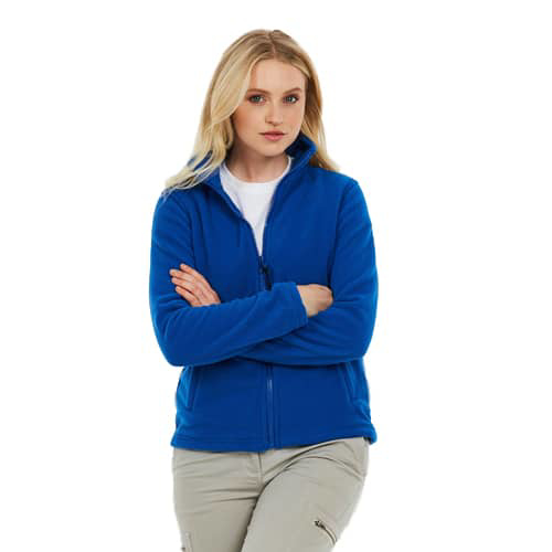 Ladies' Zipped Fleece Jacket - Royal Blue