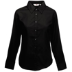 Fruit of the Loom Lady Fit Long Sleeve Oxford Shirt - Black