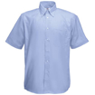 Fruit of the Loom Mens Short Sleeve Oxford Shirt - Oxford Blue