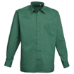 Mens Long Sleeve Poplin Shirt - Emerald