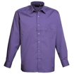 Mens Long Sleeve Poplin Shirt - Purple