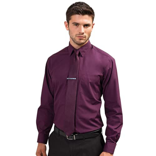 Mens Long Sleeve Poplin Shirt - Model