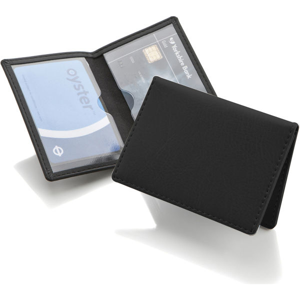 Portrait Belluno Oyster Card Wallet - Black