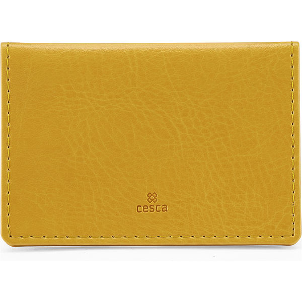Portrait Belluno Oyster Card Wallet - Yellow