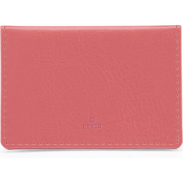 Portrait Belluno Oyster Card Wallet - Rose Pink