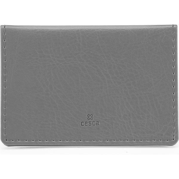 Portrait Belluno Oyster Card Wallet - Grey